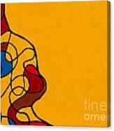 Linework Yellow Canvas Print