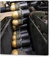 Linked 40mm Rounds Feed Into A Mark 19 Canvas Print