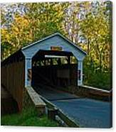 Linton Stevens Covered Bridge Canvas Print