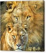 Lion And Lioness- African Royalty Canvas Print