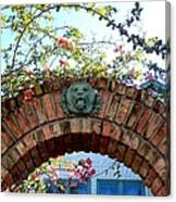 Lion Arch With Flowers Canvas Print