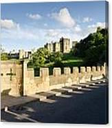 Lion Bridge At Alnwick Castle Canvas Print