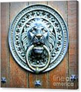 Lion Door Knocker In Norway Canvas Print