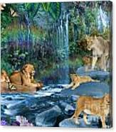Lion Falls Canvas Print