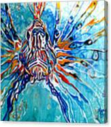 Lion Fish Blue Canvas Print