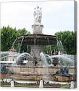 Lion Fountain - Aix En Provence Canvas Print