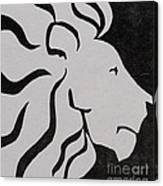 Lion Graphic King Of Beasts Canvas Print