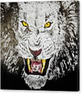 Lion In The Darkness Canvas Print