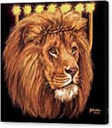 Lion Of Judah - Menorah Canvas Print