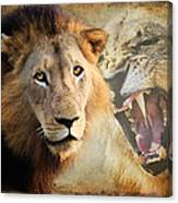 Lion Profile Canvas Print