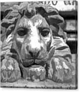 Lion Statue Guard Canvas Print
