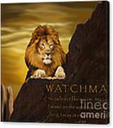 Lion Watchman Canvas Print