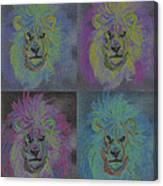 Lion X 4 Color  By Jrr Canvas Print
