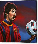 Lionel Messi 2 Canvas Print