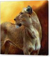 Lioness Is Near Canvas Print
