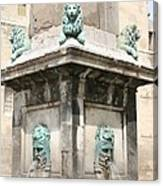 Lionfountain - Part Of The Obelisk - Arles Canvas Print