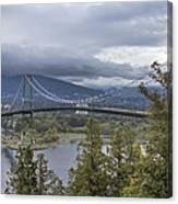 Lions Gate Bridge From Stanley Park Canvas Print