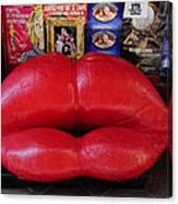 Lips Couch Canvas Print