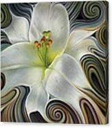 Lirio Dinamico Canvas Print