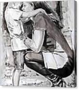 Lisa En Axel Canvas Print