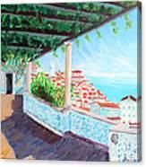 Lisbon Alfama With Atlantic Ocean Canvas Print