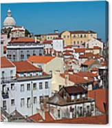 Lisbon Alfama District Canvas Print