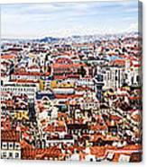 Lisbon Panoramic Skyline Canvas Print