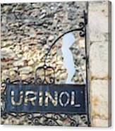 Lisbon, Portugal. Sign For Urinal Canvas Print
