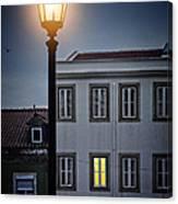 Lisbon Street Lamp Canvas Print