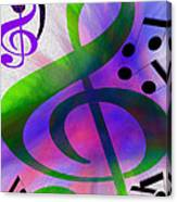 Listen To The Music Canvas Print