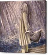 Listen To The Rhythm Of The Falling Rain.. Canvas Print