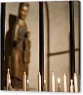 Lit Candles Canvas Print