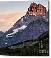 Lit Peaks Canvas Print