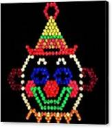 Lite Brite - The Classic Clown Canvas Print