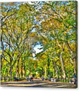 Literary Walk In Central Park Canvas Print