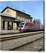 Lithuania. Silute Train Station. 2009 Canvas Print
