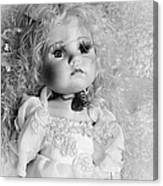 Little Angel In Black And White Canvas Print
