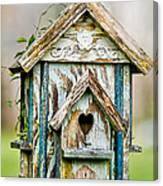 Little Birdhouse Canvas Print
