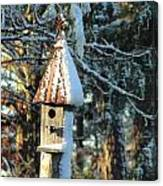 Little Birdhouse In The Woods Canvas Print