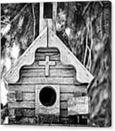 Little Birdie Church Canvas Print