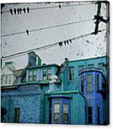 Little Blue Houses Canvas Print
