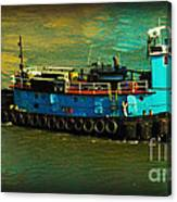 Little Blue Tug - New York City Canvas Print
