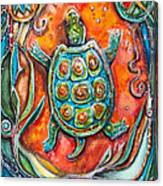 Little Brother Turtle II Canvas Print