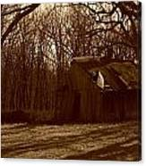 Little Brown Shed Canvas Print