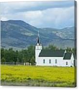 Little Church On Montana Prairie Canvas Print