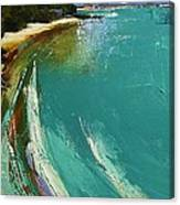 Little Cove Noosa Heads Abstract Palette Knife Seascape Painting Canvas Print