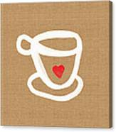 Little Cup Of Love Canvas Print