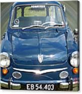Little Cute  Blue Vintage Princess Austin Car  Canvas Print