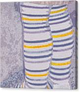 Little Feet-yellow Canvas Print