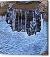 Little Frozen Waterfall Canvas Print